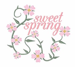 Sweet Spring embroidery design