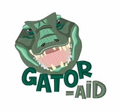 Gator Aid embroidery design