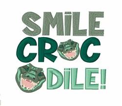 Smile Crocodile embroidery design
