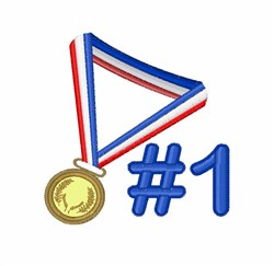 #1 Gold Medal embroidery design