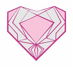 Abstract Heart embroidery design