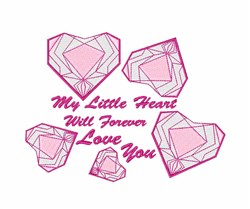 My Little Heart embroidery design