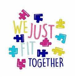 Fit Together embroidery design