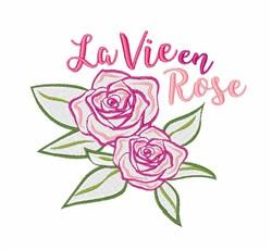 La Vie En Rose embroidery design