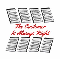 Customer Always Right embroidery design