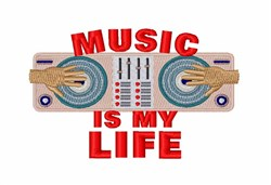 Music Is Life embroidery design