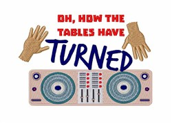 How Tables Turned embroidery design