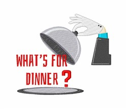 Whats For Dinner embroidery design