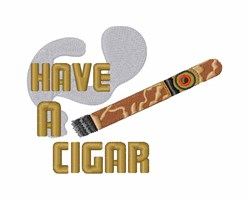 Have A Cigar embroidery design