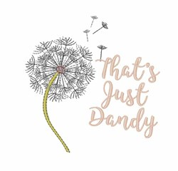 Just Dandy embroidery design