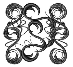 Abstract Swirls embroidery design