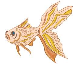 Goldfish embroidery design