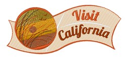 Visit California embroidery design