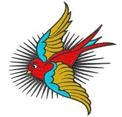 Bird Tattoo embroidery design