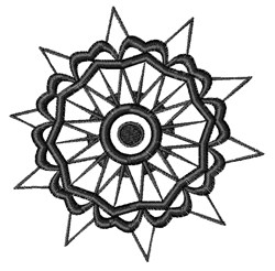 Black And White Flower embroidery design