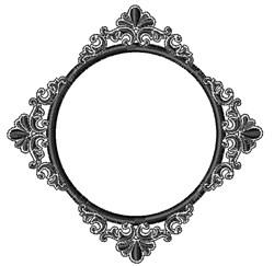 Vintage Black Mirror embroidery design