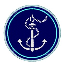 Anchor Patch embroidery design