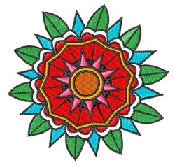 Geometric Flower embroidery design