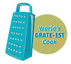 Worlds Grate-est Cook embroidery design