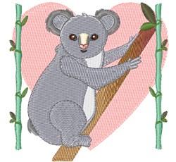 Love Koala embroidery design