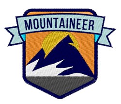 Mountaineer Patch embroidery design