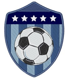 Soccer Patch embroidery design