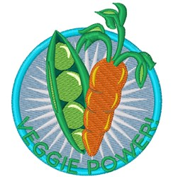 Veggie Power embroidery design