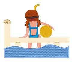 On the Dock embroidery design