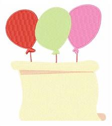Balloon Scroll embroidery design