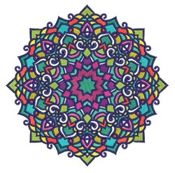 Decorative Mandala embroidery design