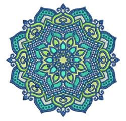 Teal Mandala embroidery design