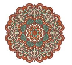 Brown Mandala embroidery design