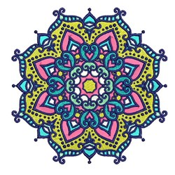 Mandala Shape embroidery design