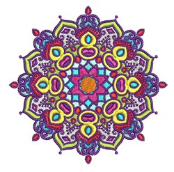 Mandala Figure embroidery design