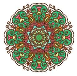 Green Mandala embroidery design