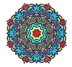 Round Mandala embroidery design