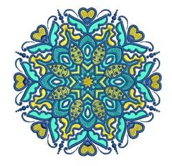 Blue Mandala embroidery design