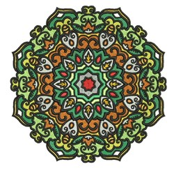 Fancy Mandala embroidery design