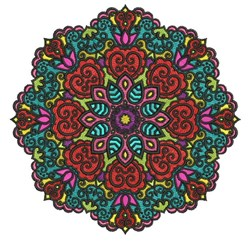 Elegant Mandala embroidery design