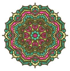 Pretty Mandala embroidery design