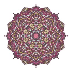 Geometric Mandala embroidery design