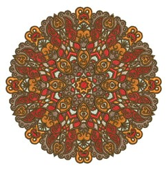 Round Mandala embroidery design
