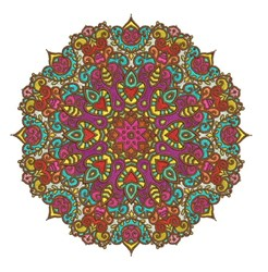 Mandala Octagon embroidery design