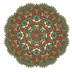 Scalloped Mandala embroidery design