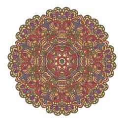 Delicate Mandala embroidery design