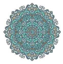 Swirly Mandala embroidery design