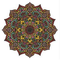 Pointed Mandala embroidery design