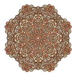 Brown Mandala embroidery design