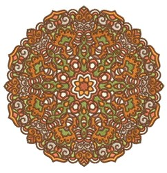 Orange Mandala embroidery design