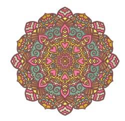 Pink Mandala embroidery design
